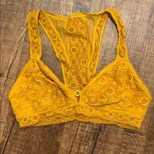 Golden yellow bralette